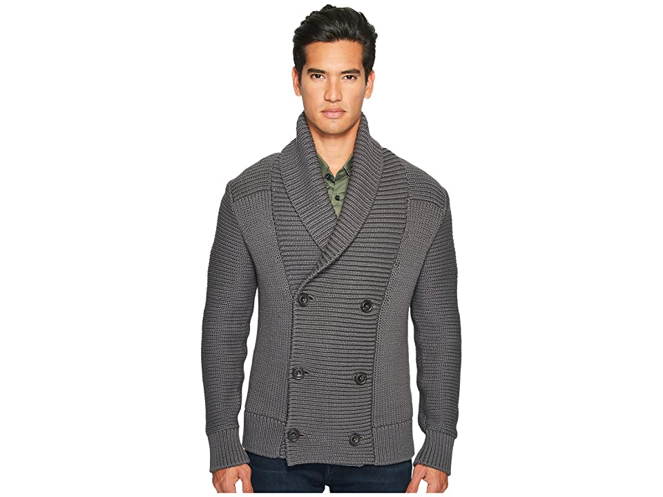 Vince Solid Double-Breasted Cardigan Coat (Sulphur) Men