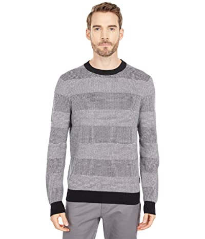 Ben Sherman Textured Crew Sweater (Black) Men