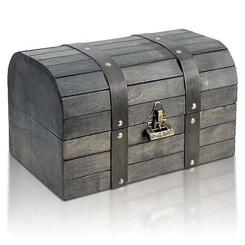 Brynnberg - Boîte de Rangement Coffre au Trésor Cadenas - 31x20x18cm