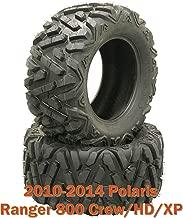 (2) 26x11R12 Radial ATV Rear Tire Set for 10-14 Polaris Ranger 800 Crew/HD/XP