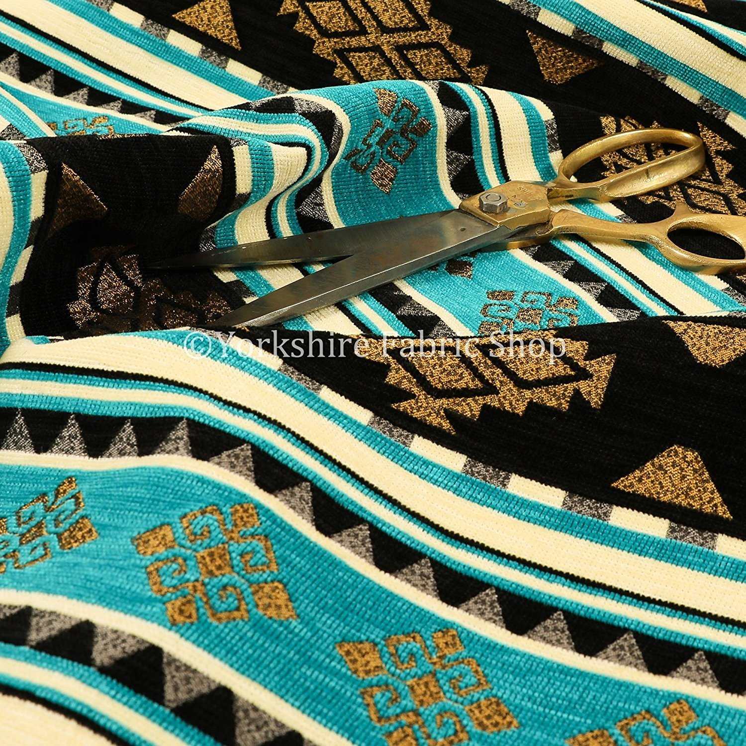 black and gold upholstery fabric