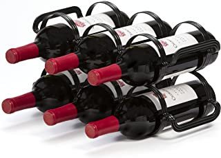 Mango Steam 6 Bottle Counter-top Wine Rack, (Black)