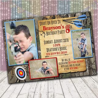 printable archery birthday party invitations