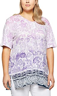 My Size Women's Plus Size Broome Ombre Top, Lilac