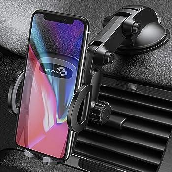 iPhone for Samsung Nokia Saza Electronics S006 Universal Strong Suction Car Dashboard Phone Holder 360 Degree Rotating Car Phone Holder Universal Car Cell Phone Holder LG Huawei