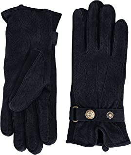 Dents Womens Laura Suede Side Knit Walking Gloves