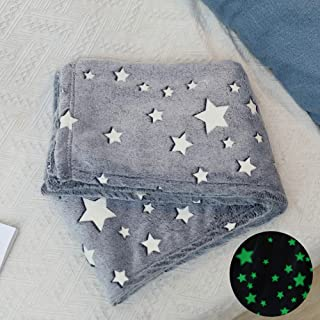 Sponsored Ad - talever Kid Blanket Glow in The Dark Throw Blanket 39 x 59 inches, Fun Gift for Girls Boys Kids Premium Sup...