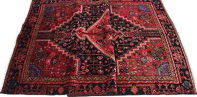Noori Rug Vintage Costari Rose-Red/Navy Rug, 4'5 x 8'2