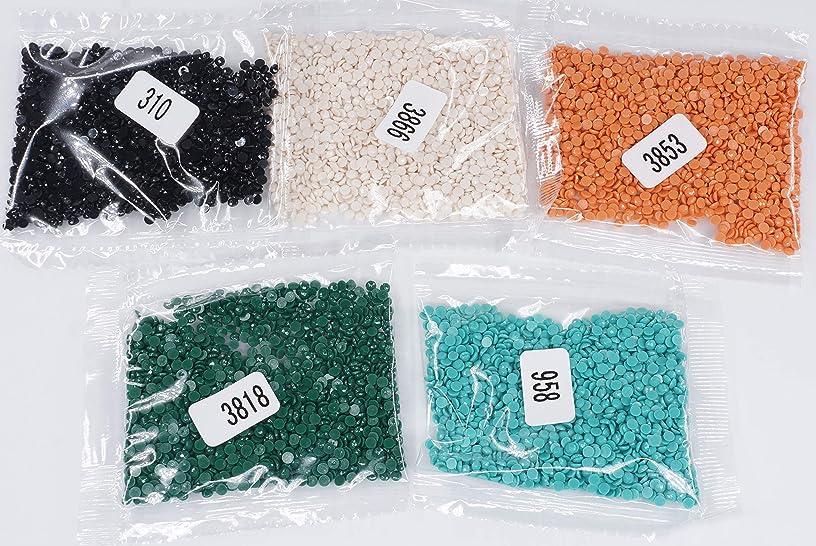 KOTART Diamond Painting Round Diamonds 5 Colour Set Replacement Rhinestones 958 3818 3853 3866 310