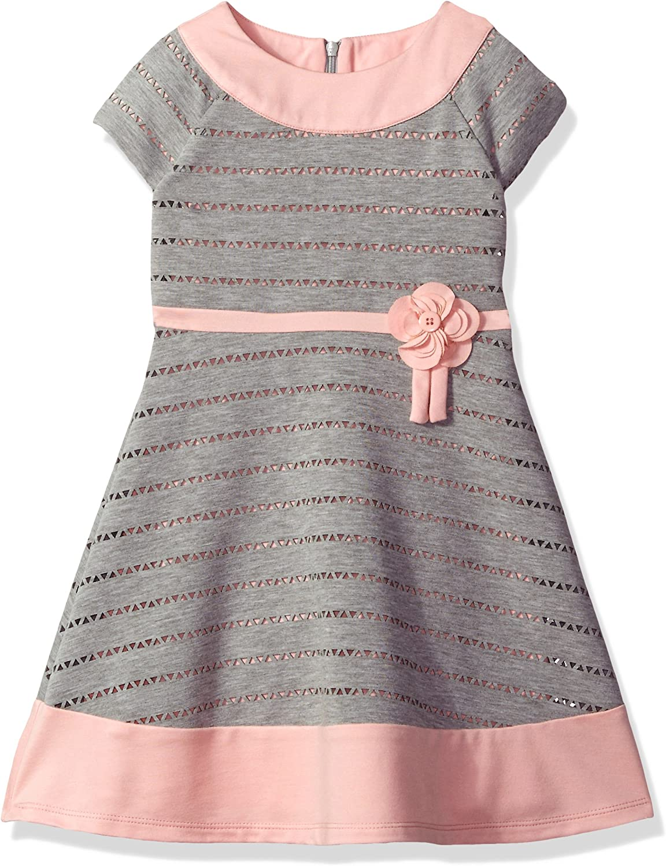 Little Angels Girls' Colorblock Cap Sleeve Dress