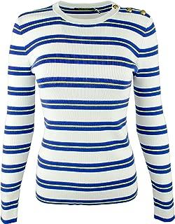 LAUREN RALPH LAUREN Women's Petite Striped Knit Sweater