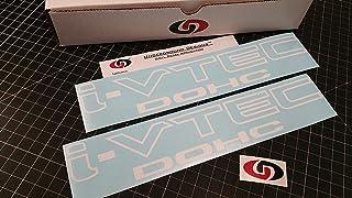 "UNDERGROUND DESIGNS I-VTEC DOHC 12"" (Pair X2) Vinyl Decal Kit Gloss White"