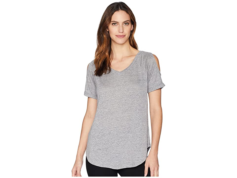 Mod-o-doc Linen Jersey Cold Shoulder Raglan Tee (Grey) Women