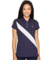 U.S. POLO ASSN. - Printed Stretch Pique Polo Shirt
