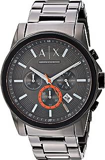 Armani Exchange Men's Analog-Quartz Watch with Stainless-Steel Strap, Grey, 22 (Model: AX2514)