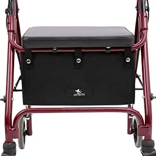 Extra Large Walker Underseat Bag - Rollator Accessories - Under Seat Storage Pouch (Black)
