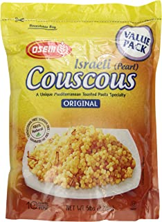 The Original Israeli Couscous by Osem Pearl Couscous 5lb/80oz Resealable Bag
