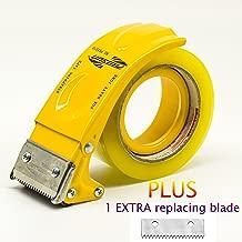 PROSUN Metal Handheld 2 Inch Tape Gun Dispenser Packing Packaging Sealing Cutter Yellow