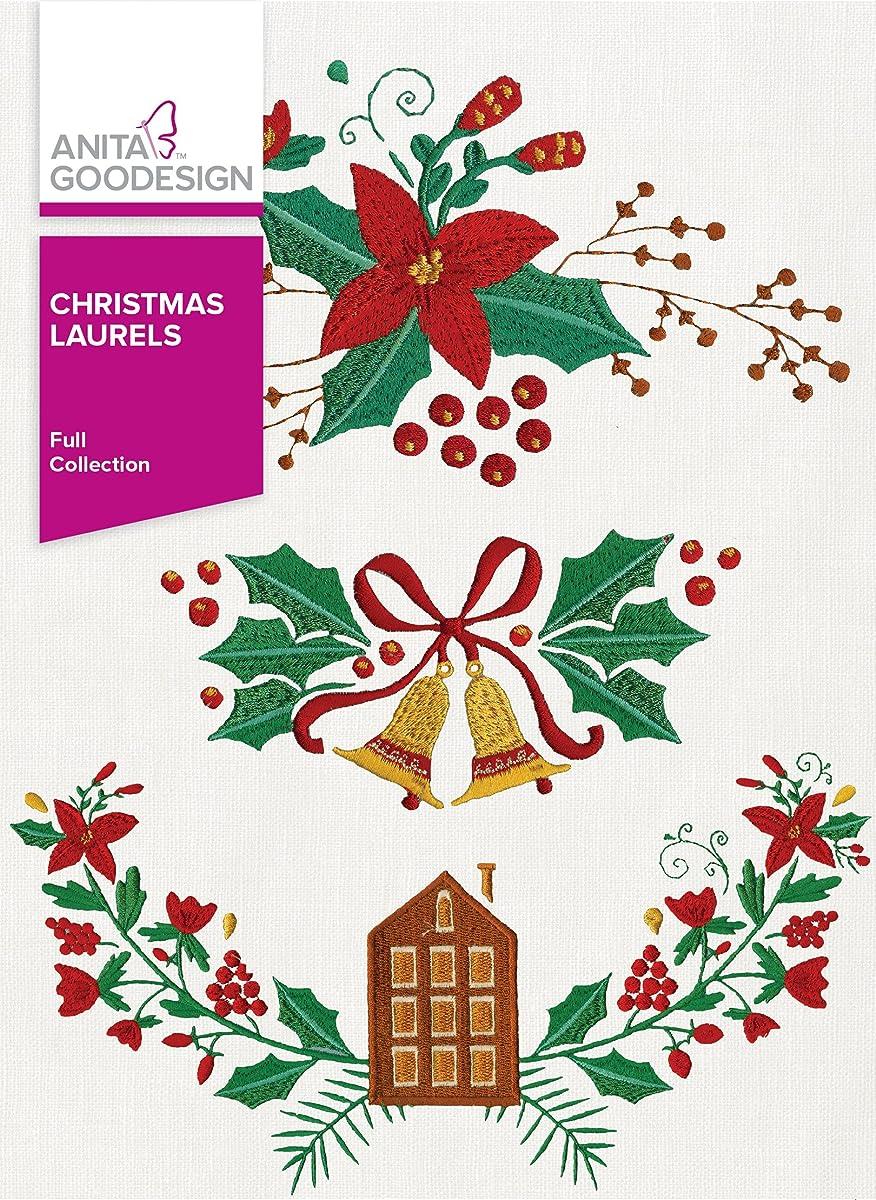 Anita Goodesign Embroidery Designs Christmas Laurels