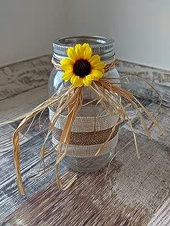 Mason Jar Sunflower Centerpiece/Candle Holder