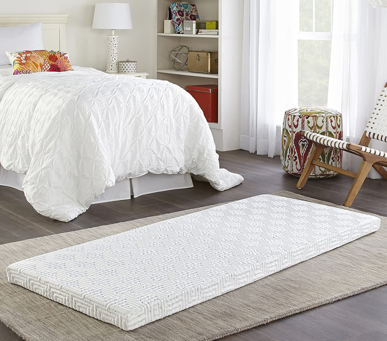 Broyhill Roll and Store Memory Foam Mattress  Roll-Up Guest Bed Floor Mat, 3  Twin
