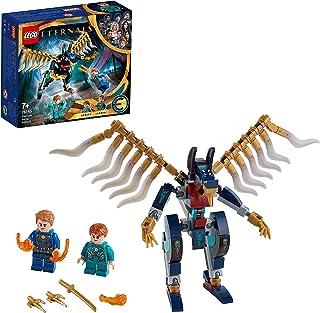LEGO 76145 Marvel Luftangriff Der Eternals, Superhelden-Spielzeug für Kinder ab 7 Jahren, mit Deviant-Actionfiguren