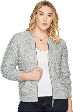 Plus Size Sweater Jacket
