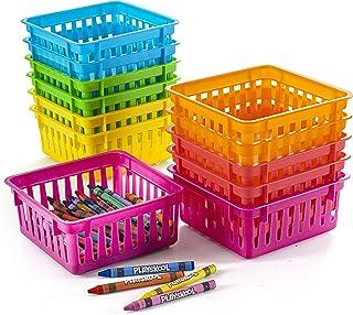 Prextex Classroom Storage Baskets Crayon and Pencill Storage Baskets