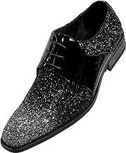 Amali Gradey - Mens Slip On Shoes, Tuxedo Oxford - Designer Shoes - Metallic Glitter Sparkle Lace Up
