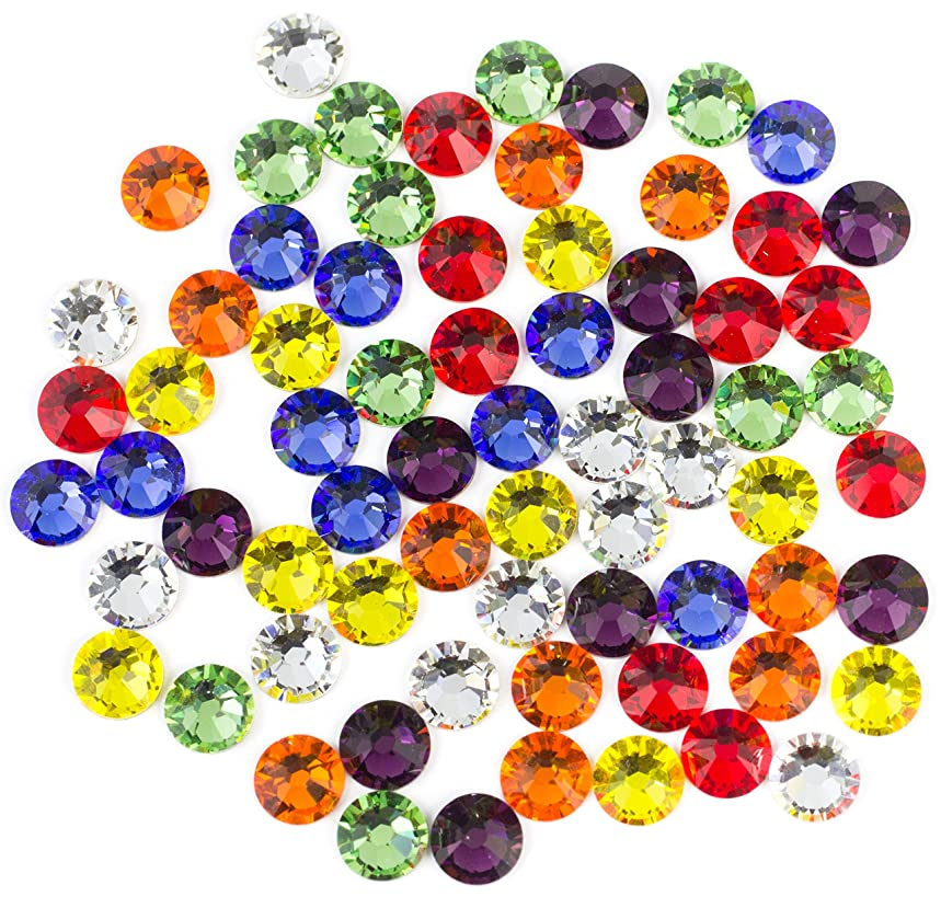 Swarovski - Create Your Style Flatback Mix Rainbow 3 packages of 60 Piece (180 Total Crystals) vfe60198728