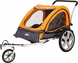Best Instep Quick-N-EZ Double Tow Behind Bike Trailer for Toddlers, Kids, Converts to Stroller, Jogger, 2-in-1 Canopy, Universal Bicycle Coupler, Folding Frame, Multiple Colors Review
