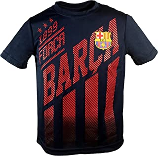Junior Boys FC Barcelona Official Soccer Club Crew Neck Short Sleeve Jersey T Shirt