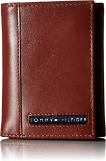 Men's Trifold Wallet-Sleek and Slim Includes ID Window...