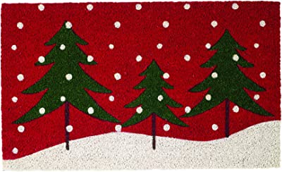 DII Winter Holiday Home Décor Doormat, 18 x 30, Snowy Trees