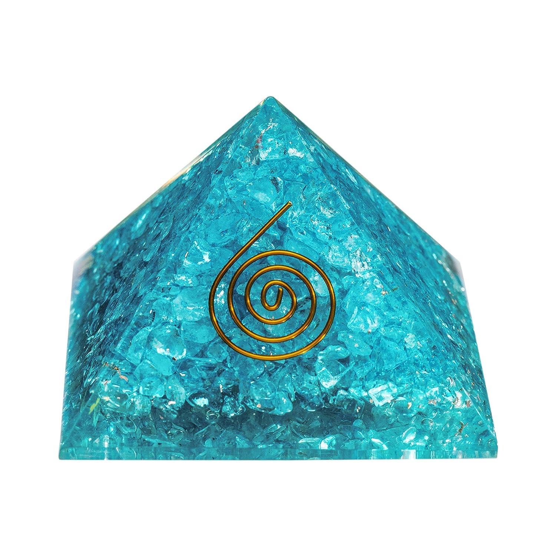 PURA ESPRIT Orgone Pyramid Phoenix Mall Aquamarine Positive – Crystals E Industry No. 1