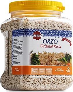 Sponsored Ad - Baron's Orzo Pasta Original | 1 Pack of 21.16oz Kosher Jar | Natural Israeli Rice-Shaped Orzo for Soups, Ca...