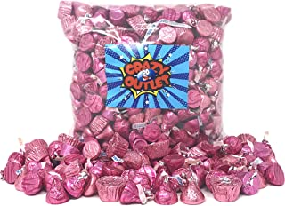 CrazyOutlet Pack - It's a Girl Baby Shower Pink Wrap Chocolate Candy Assortment - Hershey's Kisses, Kisses Caramel, Reese's Miniatures, Rolo Chewy Caramel, Bulk Pack, 3 Lbs