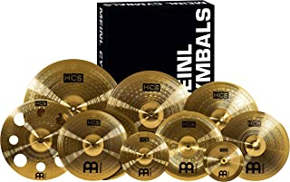 """Meinl Cymbals Ultimate Cymbal Set Box Pack with FREE 16"""" Trash Crash – HCS Traditional Finish Brass – Made In Germany, TWO YEAR WARRANTY SCS1"""