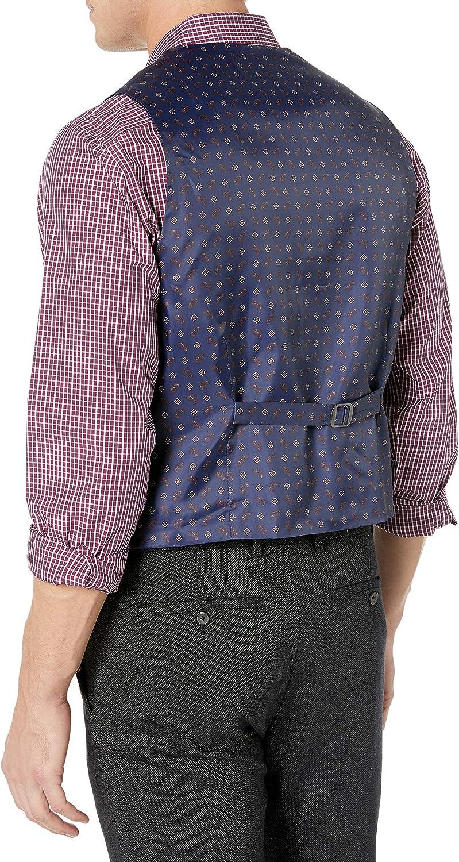 Stone Rose Men's Solid Silk Lined Polished Vest