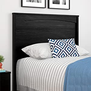 Ameriwood Home Crescent Point Twin Size Headboard, Black