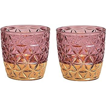 Glas Teelicht Halter 3er Set Kerzenständer Teelichthalter