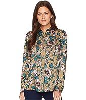 Floral-Print Button Down Shirt