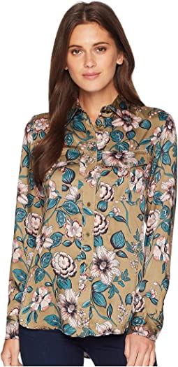 Floral-Print Button Down Shirt