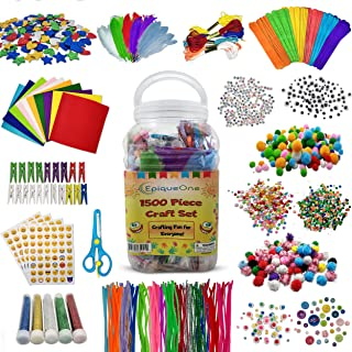 EpiqueOne 1500 Set of Bulk Craft Accessories for Kids - Art Supplies for Children, Toddlers, Classrooms, Large Assortment ...