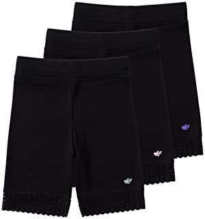 | 3 Pack of Jada Little Girls Bike Shorts | Tagless | Super Soft Cotton with Lace Trim | Good Coverage