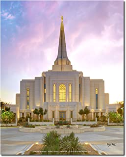 Latter-day Strengths Gilbert Arizona LDS Temple - with a Peaceful Sunset - 8