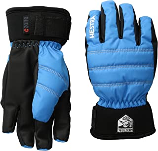 Hestra Ski Gloves for Kids: Youth All Mountain Waterproof C-Zone Primaloft Winter Cold Weather Glove