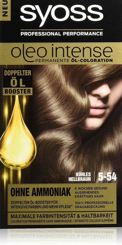 Syoss Oleo Intense Tinte para el pelo, 5-54, marrón claro, 3 unidades (3 x 115 ml)