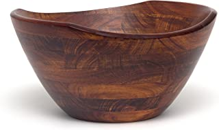 Lipper International 2174 Cherry Finished Wavy Rim Serving Bowl for Fruits or Salads, Large, 11.75