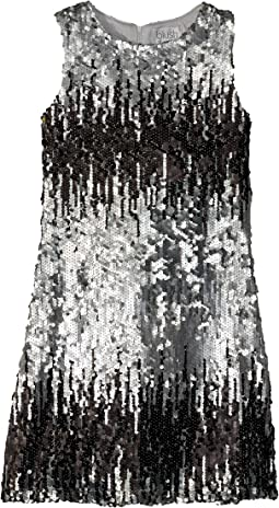 Sleeveless Ombre Sequin Shift Dress (Big Kids)